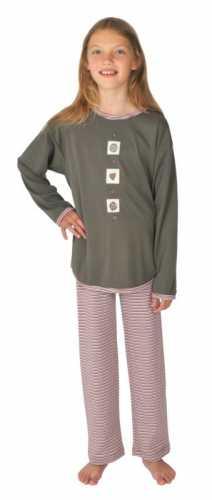 Interlock-Schlafanzug lang